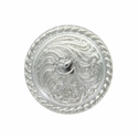 LL-3305 SP Bright Silver Rope Edge Concho 1/2""