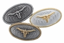 Longhorn Steer Conchos- Screw Back