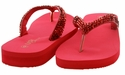 Mariposa Women Summer Bling Flip Flops Sandals - Red