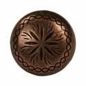 """NB-1898 Copper Engraved Upholstery Tack 5/8"""" 10/Pack"""