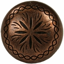 """NB-1899 Copper Engraved Upholstery Tack 7/8"""" 10/Pack"""