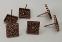 NB-20567 Copper 3/4'' Square Floral Upholstery Tack 10/Pack