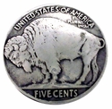 "NB-445 Buffalo Nickel Dark Silver  Upholstery Tack 7/8"" 10/Pack"