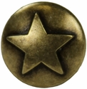 "NB-8282 Brass Bronze Raised Star Upholstery Tack 1/2"" 10/Pack"