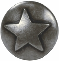 "NB-8282 Dark Silver Raised Star Upholstery Tack 1/2"" 10/Pack"