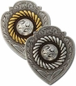 New! Badge Center Rope Conchos