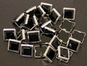 "NH-188 Black  3/8"" Synthetic Crystal Gem Square Spots 10/pk"