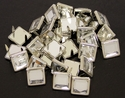 "NH-188 Clear  3/8"" Synthetic Crystal Gem Square Spots 10/pk"