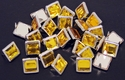NH-189 Amber  12.7mm Synthetic Crystal Gem Square Spots 10/pk