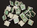 NH-189 Green  12.7mm Synthetic Crystal Gem Square Spots 10/pk