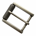 "P4316-1 Antique Silver Roller Belt Buckle fit's 1-1/2"" (38mm)"