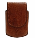 PC223 Genuine Leather Cell Phone Case-Fits Razr Color Tan