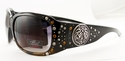 ROMANCE High Fashion Celebrity Inspired Rhinestone Bling Sunglasses -98002-Crystal-Topaz