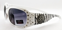 ROMANCE High Fashion Celebrity Inspired Rhinestone Bling Sunglasses -98002-W-Crystal