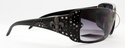 ROMANCE High Fashion Celebrity Inspired Rhinestone Bling Sunglasses -98004-Crystal-Purple