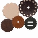 Saddle Leather Rosettes Conchos