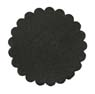 Saddle Leather Rosettes Conchos Leather Concho Black 1-1/2""