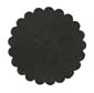 Saddle Leather Rosettes Conchos Leather Concho Black 1-1/4""