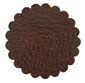 Saddle Leather Rosettes Conchos Leather Concho Brown 1-1/4""