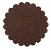 Saddle Leather Rosettes Conchos Leather Concho Brown 1-3/4""