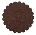 Saddle Leather Rosettes Conchos Leather Concho Brown 2""
