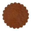 Saddle Leather Rosettes Conchos Leather Concho Tan 1-3/4""