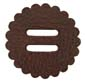 "Saddle Leather Rosettes Conchos With 1/2"" Slots - Brown 1-1/4"""
