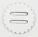 "Saddle Leather Rosettes Conchos With 1"" Slots - White 2"""