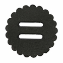"Saddle Leather Rosettes Conchos With 1"" Slots - Black 2"""