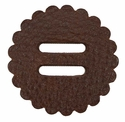 "Saddle Leather Rosettes Conchos With 1"" Slots - Brown 2"""