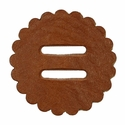 "Saddle Leather Rosettes Conchos With 1"" Slots - Tan 2"""