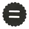 "Saddle Leather Rosettes Conchos With 3/4"" Slots - Black 1-1/2"""