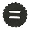 "Saddle Leather Rosettes Conchos With 3/4"" Slots - Black 1-3/4"""