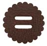"Saddle Leather Rosettes Conchos With 3/4"" Slots - Brown 1-1/2"""