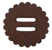 "Saddle Leather Rosettes Conchos With 3/4"" Slots - Brown 1-3/4"""