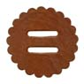 "Saddle Leather Rosettes Conchos With 3/4"" Slots - Tan 1-1/2"""