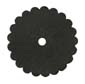 Saddle Leather Rosettes Conchos With Hole Black 1-1/4""