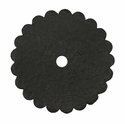 Saddle Leather Rosettes Conchos With Hole Black 3""