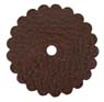 Saddle Leather Rosettes Conchos With Hole Brown 1-1/2""