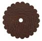 Saddle Leather Rosettes Conchos With Hole Brown 1-1/4""