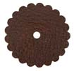 Saddle Leather Rosettes Conchos With Hole Brown 2""