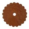 Saddle Leather Rosettes Conchos With Hole Tan 1-1/2""