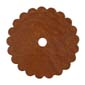 Saddle Leather Rosettes Conchos With Hole Tan 1-1/4""