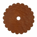 Saddle Leather Rosettes Conchos With Hole Tan 3""