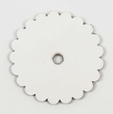 Saddle Leather Rosettes Conchos With Hole White 3""