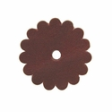 "Saddle Leather Scalloped Concho Rosettes with Hole 1-1/2"" - Burgundy"