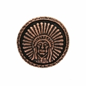 SC-580 Copper Round Headdress Concho 1-1/4""