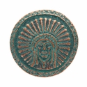 SC-581 Green Patina Round Headdress Concho 1-1/2""
