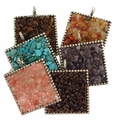 Semi Precious Square Pendants For Necklace