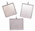 Square Picture item holder Concho For Necklace